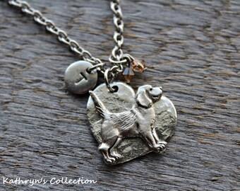 Beagle Necklace, Beagle Jewelry, Beagle, Beagle Gift, Heart Dog, Beagle Keepsake