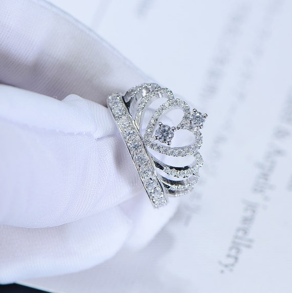 princess crown promise ring accent tiara rings for