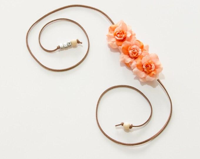 Orange Rose Side Flower Crown