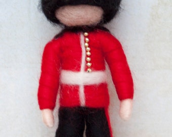 Needle felted soldier decoration *READY TO SHIP*