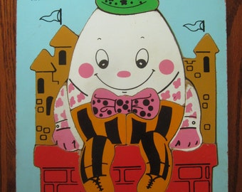 Vintage Playskool Humpty Dumpty Children's Wood Puzzle - 12 Pieces - Ages 3 - 6