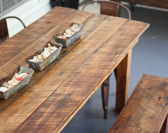 Farm House Table: Made from Salvaged Wood