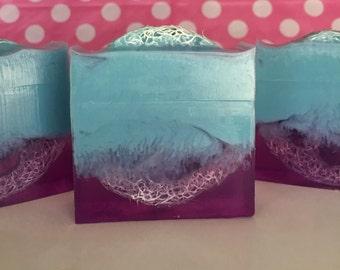 Loofah Soap - Orange Ginger Soap - Scrubbing Soap - Luffa Soap - Sponge Soap - Handmade Soap - Natural Loofah Soap - Spa Gift - Gift For Her
