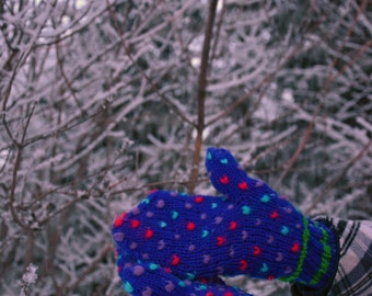 Dr Seuss-Inspired Knitting Pattern - Thrummed Mitten Knitting Instructions - Hand Knit Wool Stuffed Lined Mitts