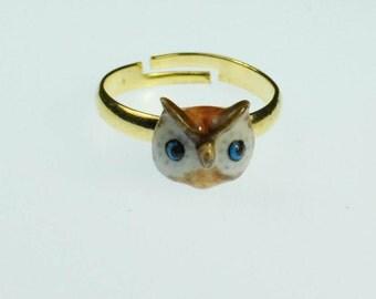 Owl Adjustable ring