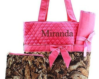 Personalized Diaper Bag Monogrammed Pink Camo Diaper Bag Diaper Bag Monogrammed Diaper Bag