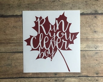 run you clever boy eleventh doctor who clara oswald decal