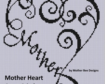 Mother Heart Cross Stitch Pattern