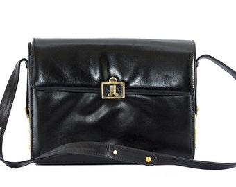 Vintage Lanvin black leather bag