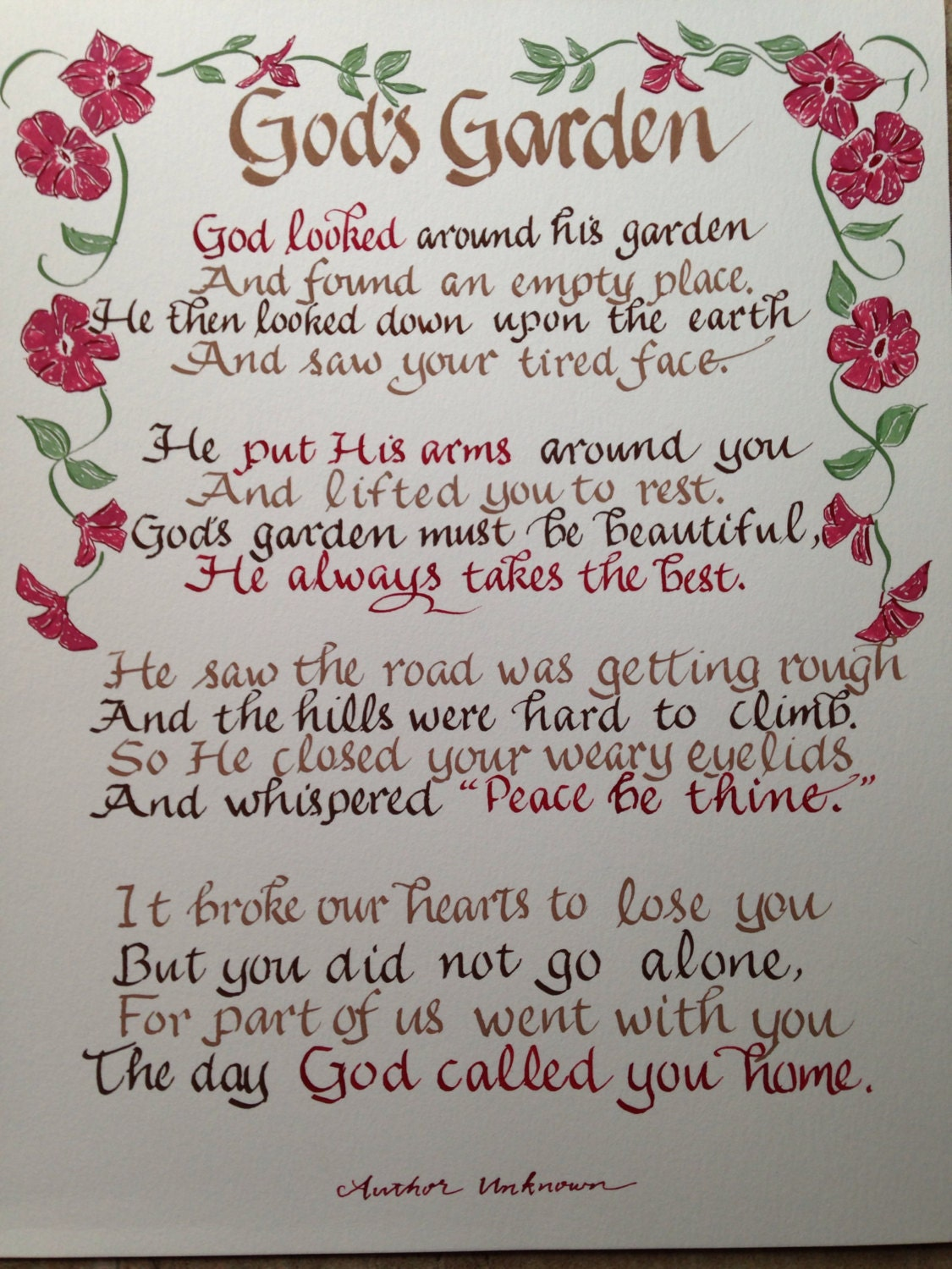 Going Home Poem For Funeral