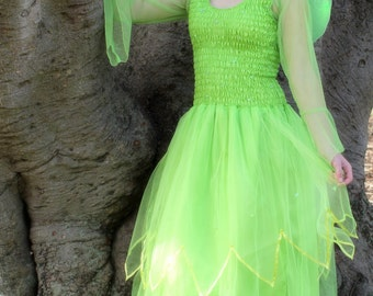 deluxe teen fairy dress tinkerbell halloween costume theatre cosplay bridal