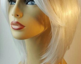 Platinum A-line Shoulder Length Wig,