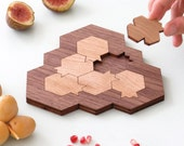 Pomegranate and honeycomb shaped challenging puzzle Modern Judaica gift .