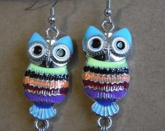Colorful Owl Earrings