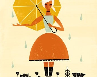 April Showers by Amber Leaders 5x7, 8x10, 11x14 art print