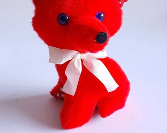 What Does the Fox Say? Plush Vintage Fox