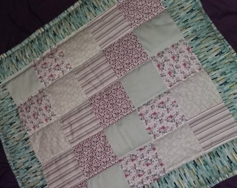 Handmade Patchwork Quilted Baby Blanket