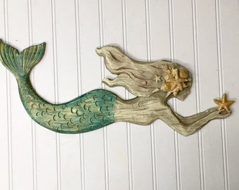 mermaidmermaid wall decorbeach decormermaid wall hangingbeachhanging - Coastal Wall Decor