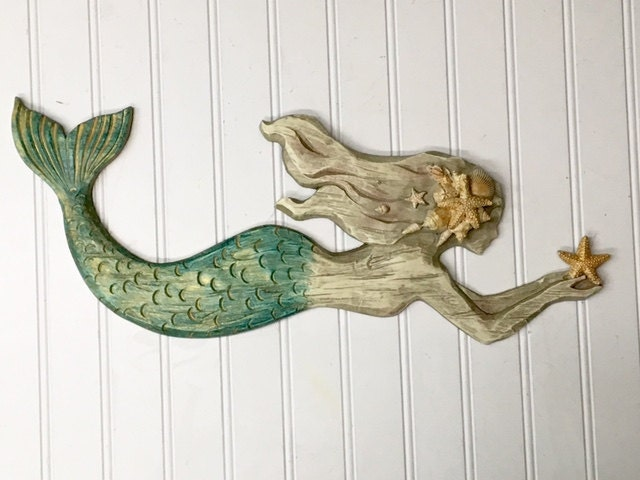 Coastal Wall Decor: Mermaid/Mermaid Wall Decor/Beach Decor/Mermaid Wall