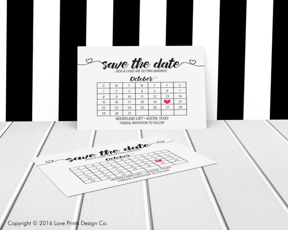 save the date calendar printable save the by loveprintsdesignco. Black Bedroom Furniture Sets. Home Design Ideas