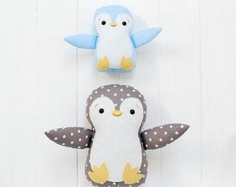 Penguin Plush Penguin Toy Penguin Soft Toy Penguin Softie Penguin Stuffed Animal Penguin Baby shower gift Nursery decor Baby Penguin gift