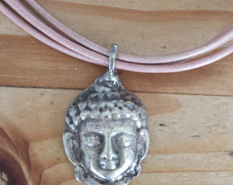 Leather,necklace,budha,boedha,leathercord,