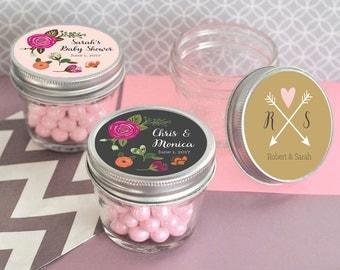 Mason Jars Ideas Mason Jars for Wedding Mason Jars with Lids Mason Jars for Baby Shower Rustic Wedding Favors  (EB2392MP) - set of 12|