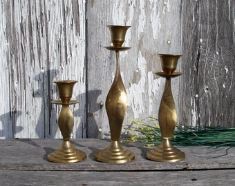 Brass candle holder Etsy