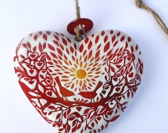 Love birds-red