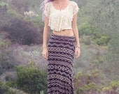 Day Tripper Aztec Maxi Skirt // African Tribal Boho Skirt // Boho Clothing - Bohemian Skirt // Bohemian Clothing / Women's Festival Clothing