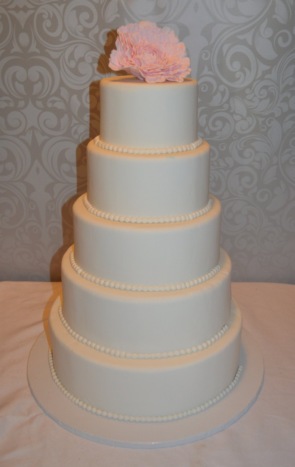 artificial wedding cakes northern ireland five tier fondant faux wedding cake wedding cake 10851