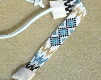 Seed bead bracelet, hand made jewelry, Native American inspired, beaded bracelet, loom bracelet, loom weaving, tribal, southwestern, boho