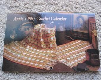 Cross Stitch Pattern Book - Annies 1987 Crochet Calendar - Afghan Calendar 1987