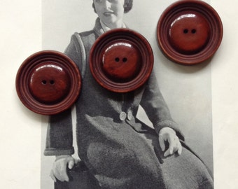 Vintage Buttons, Millinery Supplies, Large Vintage Coat Buttons