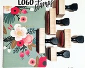 custom LOGO stamp - business stamp - branding stamp - shipping stamp - customer provided logo - choose your size - wood mount rubber stamp
