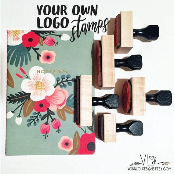 custom logo stamp business stamp branding by vonnloudesigns