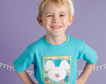 Boy's Easter Bunny Box Shirt with Embroidered Name - M41