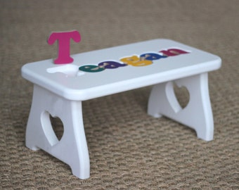 Puzzle Name Step Stool New baby First birthday Second