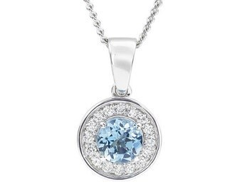 Something Blue Wedding Pendant