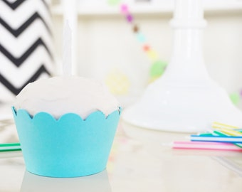 LIGHT BLUE Cupcake Wrappers - Set of 24