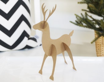THAT DOE THO... Lumberjack First Birthday - Paper Deer - Set of 8 - Deer Decoration - Deer Baby Shower