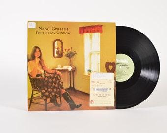 "NANCI GRIFFITH - ""Poet In My Window"" vinyl record"