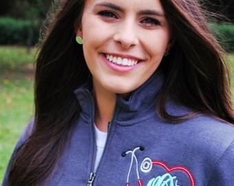 Monogrammed Nursing Quarter Zip Pullover Sweatshirt