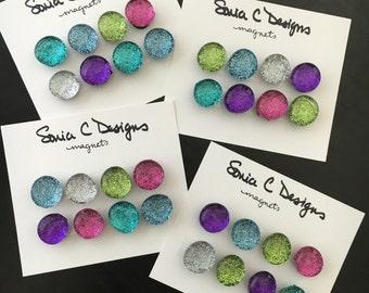 Glitter Glass Gem Magnets