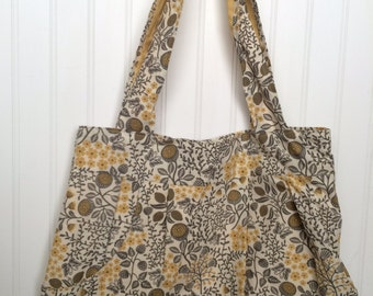 Gray & Yellow Floral Purse