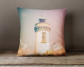 Pillow cover with a vintage lighthouse, decorative Pillow cover,vintage pillow cover,sofa pillow,throw pillow,throw pillow,France pillow
