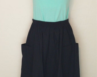 Vintage 80s, midi skirt, jolie femme