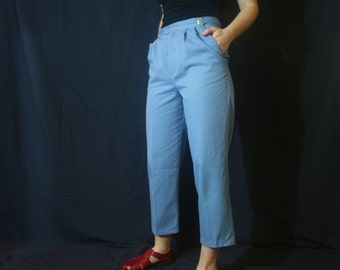 Periwinkle Pleated Trousers