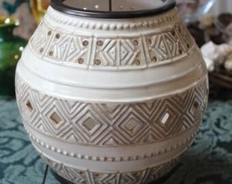Southwestern Ceramic Lantern/Southwestern Candle Holder/