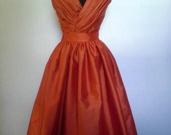 Silk Tea Length Dress